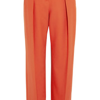 Preen by Thornton Bregazzi - Pleated wool-twill wide-leg pants