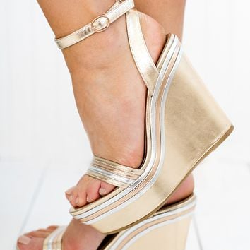 Shine Bright Like A Diamond Wedges (Gold)
