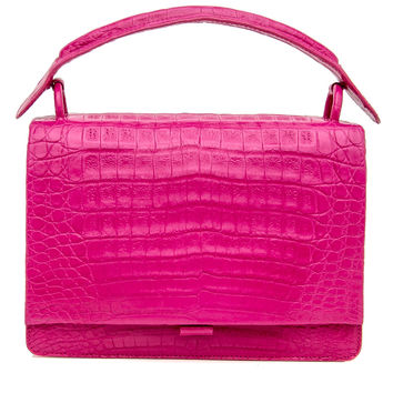 Pink Croc Small Divino Top Handle Bag