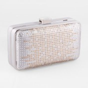 Satin Box Bag With Ombre Rhinestones