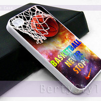Iphone Case - Iphone 4 Case - Iphone 5 Case - Samsung s3 - samsung s4 - Nike Basketball Never Stop Nebula - Photo Print on Hard Plastic