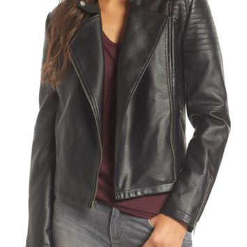 cupcakes and cashmere Cherlin Faux Leather Moto Jacket | Nordstrom