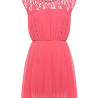 Lovedrobe Pink Lace Sleeveless Dress