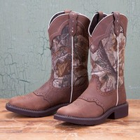 Justin Ladies' Natural Camo Tall Gypsy Boots - Western - Boots - Women's