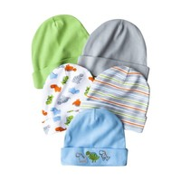 Gerber® Newborn Boys' 5-Pack Cap - Assorted 0-6 M