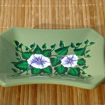 Hand Painted Trinket Ring Coin Holder