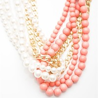 Lap of Luxury Multi Strand Pearl Necklace Set - Pink from Sunday Afternoon at Lucky 21 Lucky 21