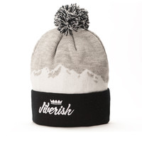 Mountain Script Beanie Grey/Black