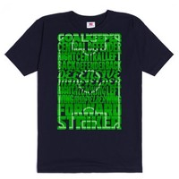 Soccer Field Formations Typography-Unisex Navy T-Shirt