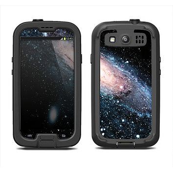 The Swirling Glowing Starry Galaxy Samsung Galaxy S3 LifeProof Fre Case Skin Set
