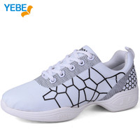 YEBE New 2017 Dancing Shoes For Women Sports Soft Outsole Breath woman Gym Shoe Salsa Modern Jazz Dance sneakers