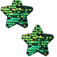 Star Pasties in Siren Sequin