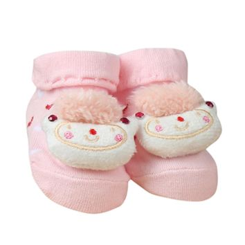 2017 Lovely Baby Slippers Cotton Socks Animal Design Cartoon Newborn Infant Bebe Boys Girls Boots Kids Cute Anti-slip Warm Socks