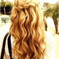 Wavy Hair Tumblr Back Of Head - Hair Styles
