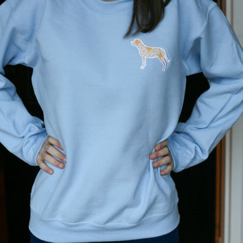 Preppy Sweatshirt With Appliqued Dog