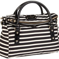 Kate Spade New York Kate Spade Nylon Stripe Small Leslie Satchel - designer shoes, handbags, jewelry, watches, and fashion accessories | endless.com