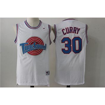 Online Space Jam Movie Jersey # 30 Stephen Curry White