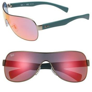 Women's Ray-Ban 62mm Mirror Shield Sunglasses