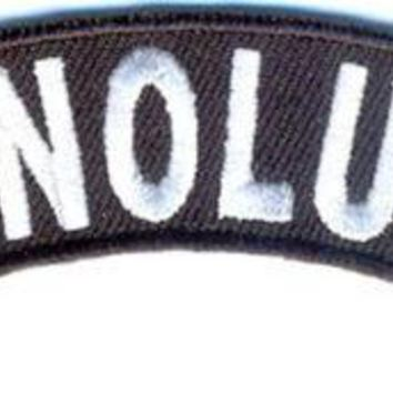 Honolulu Rocker Patch Small Embroidered Motorcycle NEW Biker Vest Patch
