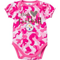 Pittsburgh Steelers Camouflage Bodysuit - Baby Girl, Size: