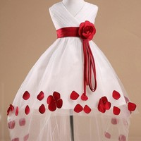 Baby Dress Petals Party wedding Prom 2 colors