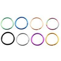 1PC 16G G23 Titanium Fake Septum Clicker Pircing Hinged Segment Rings Nariz Nose Rings Pirsing Body Piercing Pircing Jewelry
