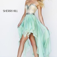 Strapless Sweetheart High Low Dress