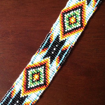 Native American Indian Summer Seed Bead Bracelet