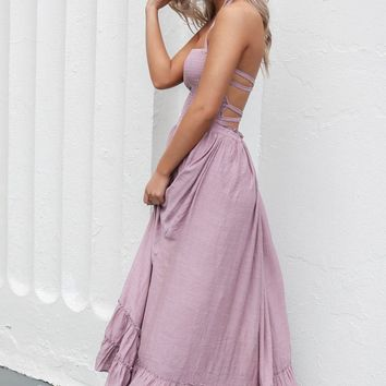 Chasing A Feeling Mauve Maxi Dress