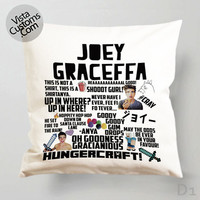 Joey Graceffa Collage Art Pillow Case, Chusion Cover ( 1 or 2 Side Print With Size 16, 18, 20, 26, 30, 36 inch )