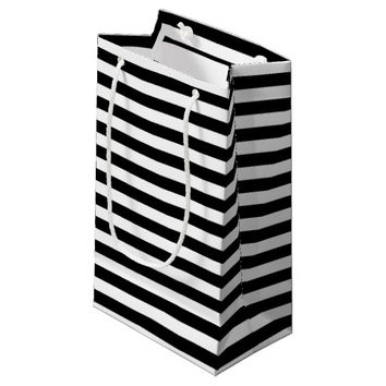 Black and White Stripes Small Gift Bag