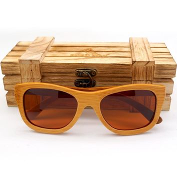 BOBO BIRD Handmade Men women Wood Sunglasses Wooden Eyewear Bamboo sport Glasses in Wood Box ping custom logo