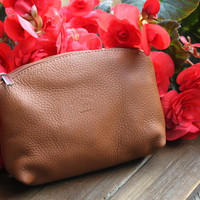 Italian Leather Handmade Pouch/Wallet/Make-up Pouch- LB102