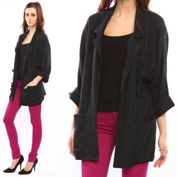 black oversized blazer // boyfriend slouchy relaxed by shopCOLLECT