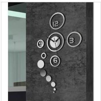 Quiet Diy Strong Character Mirror Wall Sticker Luxury Living Room Decoration Clock [6057116993]