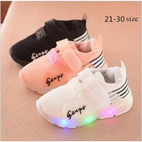 Kids Light Up ports Shoes Breathable Running sneakers For Boy And Girls