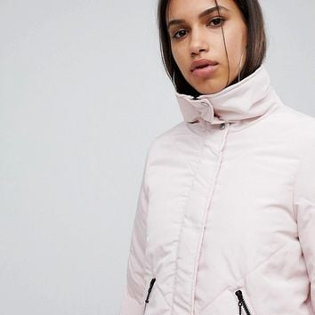Noisy May Padded High Neck Jacket at asos.com