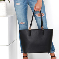At Your Fingertips Black Tote