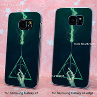 harry potter avada kedavra transparent clear hard Cover Case for Samsung Galaxy s3 s4 s5 mini s6 s7 edge