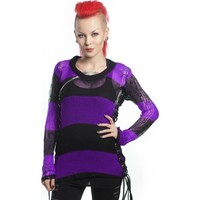 Miss Krueger [Black/Purple] | TOP