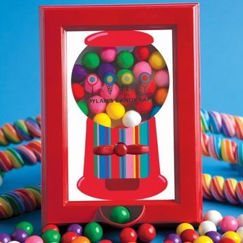 Dylan's Candy Bar Working Gumball Machine Filled Picture Frame