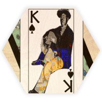 Play Your Hand...King Spade No. 1 Wooden Coaster Set