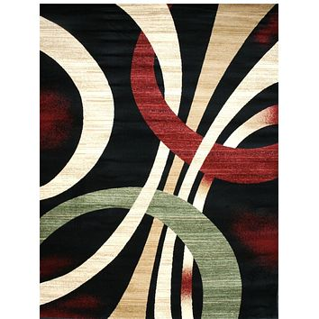 2030 Black Contemporary Area Rugs