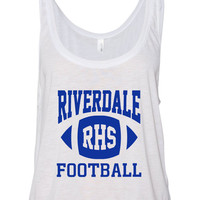 "Riverdale ""RHS Football"" Boxy, Cropped Tank Top"