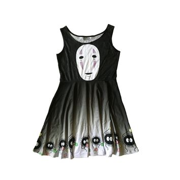 Spirited Away No Face Soot Sprite Skater Dress
