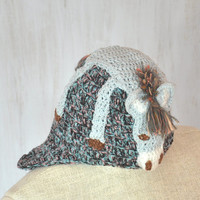 Child Kids Beanie Hat Donkey Burro Hat Winter Spring Hat Knit Crochet Hat Animal Hat Gray Warm Unique Original For Boy For Girl OOAK