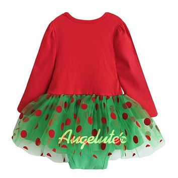 Christmas Baby Girl Rompers Princess Kids Newborn Clothes Long Sleeved Spring Autumn Children Infant Clothing Set