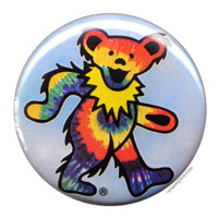 Grateful Dead - Rainbow Tie Dye Bear Button on Sale for $1.99 at HippieShop.com