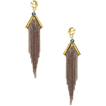 LINA WATERFALL EARRING IN GOLD/BROWN