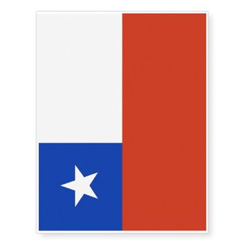 Patriotic temporary tattoos Flag of Chile